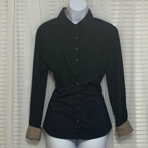 Black/Tan NY&Co dress shirt